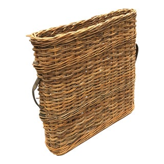 Vintage French Champagne Handled Basket