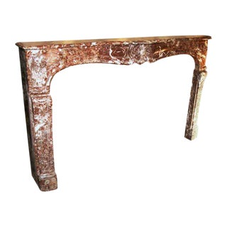 French Louis XV Marble Mantel For Sale