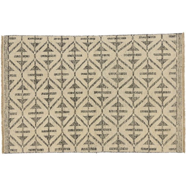 Contemporary Modern Style Rug with High and Low Pile For Sale - Image 4 of 6