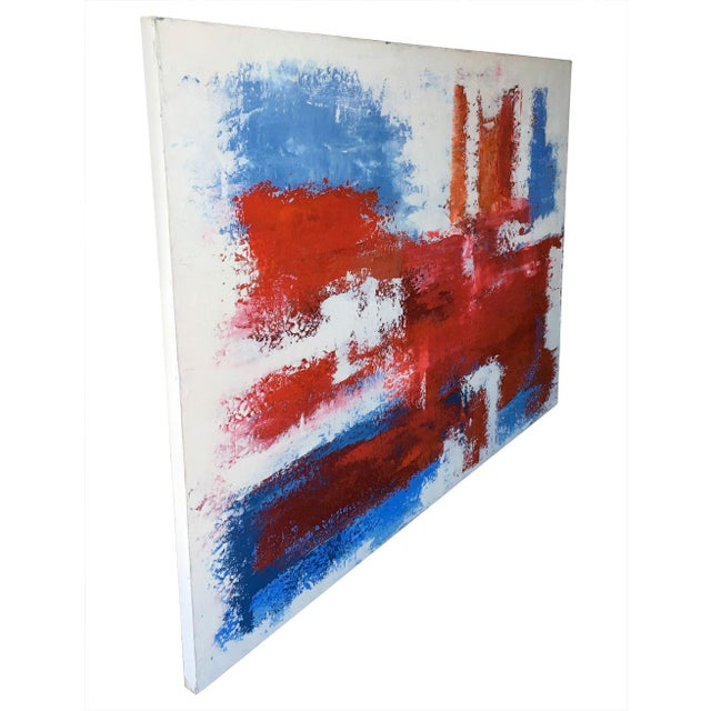Mario Sergio Lopomo Vintage Abstract Painting For Sale - Image 5 of 10