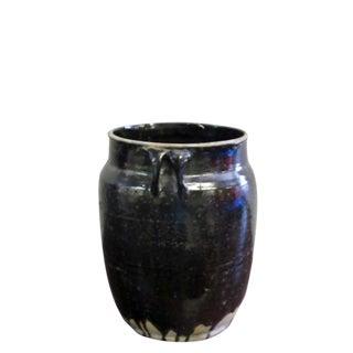 Glazed Black Flower Pot For Sale