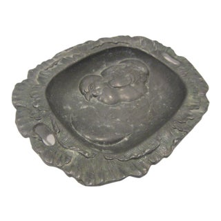 1930s Country Hatching Chick Metal Soap Dish