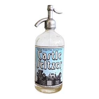 Vintage Glass Seltzer Bottle For Sale