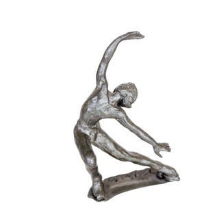 Pewter Roller Skater Figurine For Sale