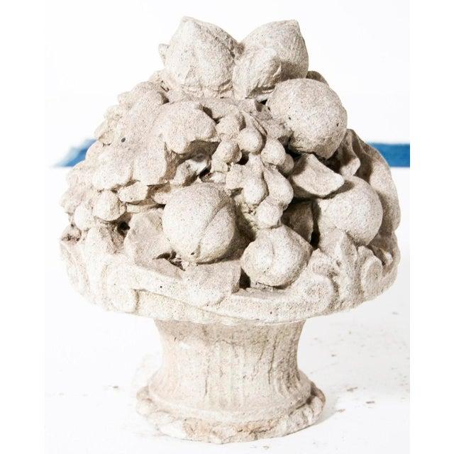 Late 19th Century Cast Stone Cornucopia For Sale - Image 4 of 5