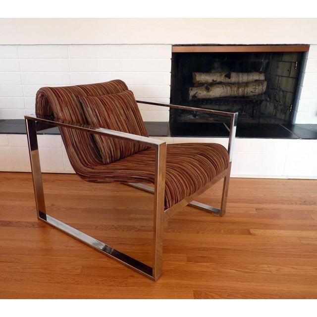 Milo Baughman MCM Chrome Lounge Chair - Image 6 of 9