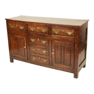 Early 19th Century George III Oak Sideboard For Sale