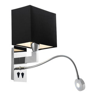 Eichholtz Reading Silver Wall Lamp With Picture Light For Sale