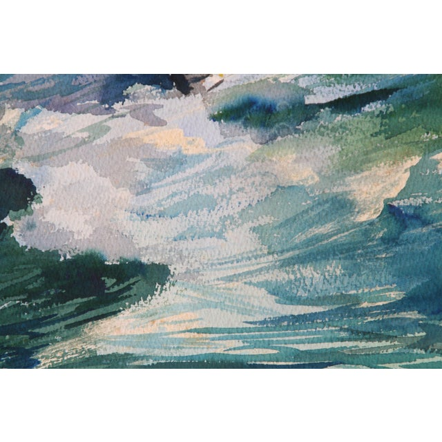 Seascape Watercolor Paintings - Set of 3 For Sale - Image 4 of 8
