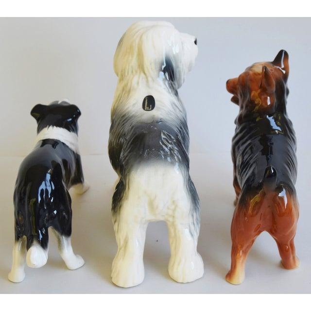 Ceramic English Coopercraft Porcelain Dog Figurines - Set of 3 For Sale - Image 7 of 9