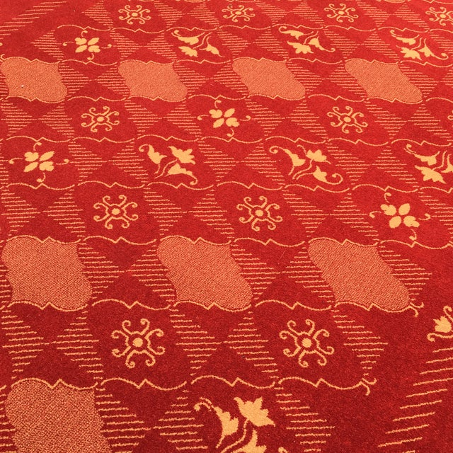 Contemporary Prado Epos Red Wool Area Rug - 6′6″ × 9′10″ For Sale - Image 3 of 8