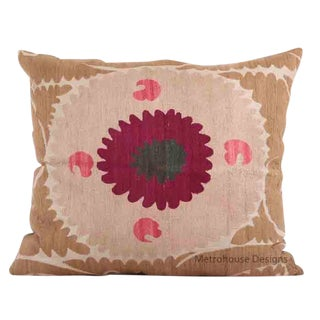 Vintage Cotton Embroidered Gulkurpa Pillow - Cover Only. For Sale