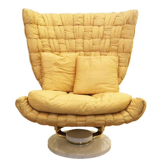 Gold Swivel Lounge Chair by Marzio Cecchi For Sale - Image 8 of 8