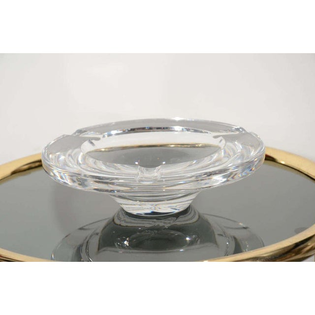 Hollywood Regency Mid Century Modern Glass Ashtray by Lindstrand for Kosta Boda For Sale - Image 3 of 12