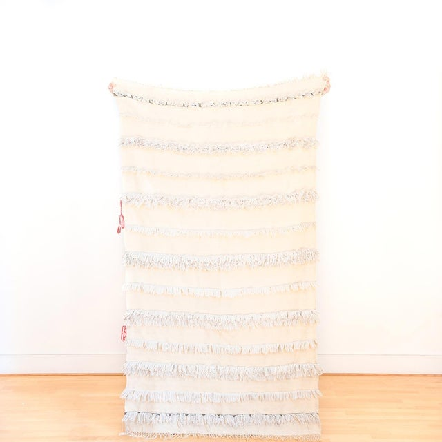 Moroccan Handira Wedding Blanket - Image 2 of 5