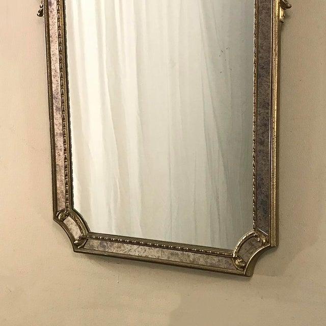 Gold Mid-Century Italian Venetian Gilded Mirror For Sale - Image 8 of 13