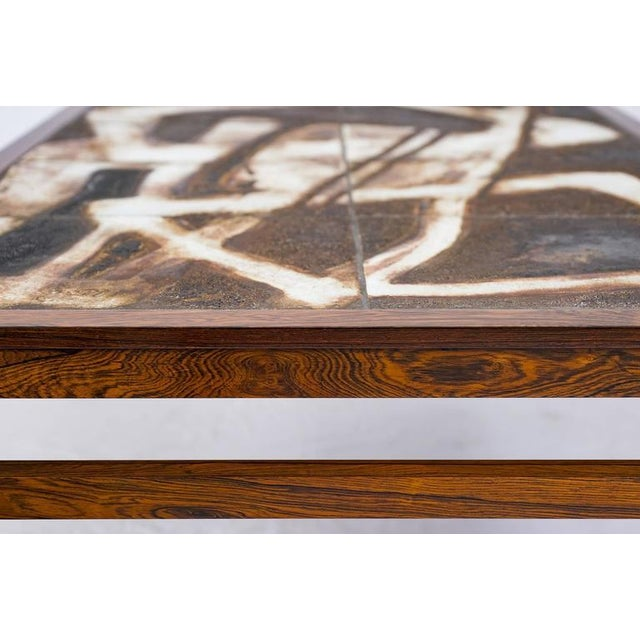 Wood Danish Abstract Tile Coffee Table For Sale - Image 7 of 10
