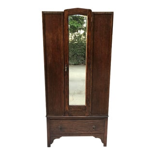 Antique English Wardrobe Cabinet For Sale