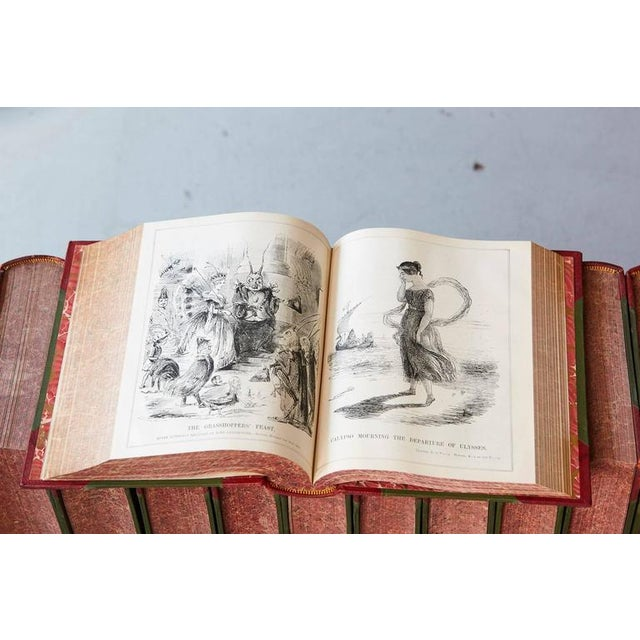 Set of 24 Leather Bound Volumes of Punch No 5-100 from the Estate of José Ferrer For Sale - Image 9 of 11