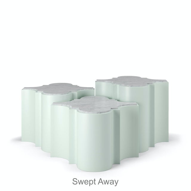 Sofia Nesting Tables, Set of 3 - Swept Away Blue For Sale In Los Angeles - Image 6 of 6