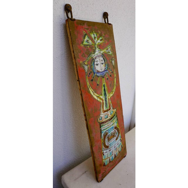 Ceramic Whimsical Ceramic Tile by Bruno Capacci For Sale - Image 7 of 7
