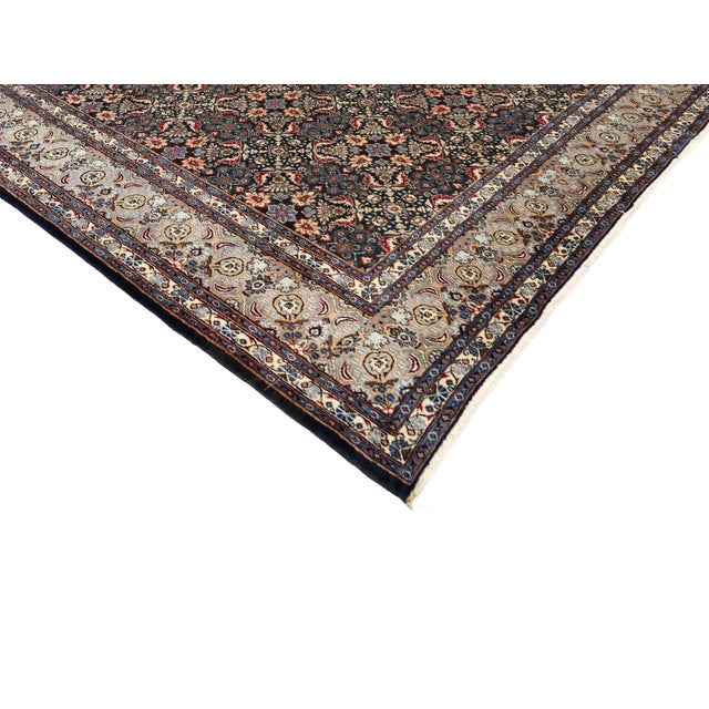 """Cottage Vintage Persian Mashad Wool Rug - 8'5"""" X 11'2"""" For Sale - Image 3 of 7"""