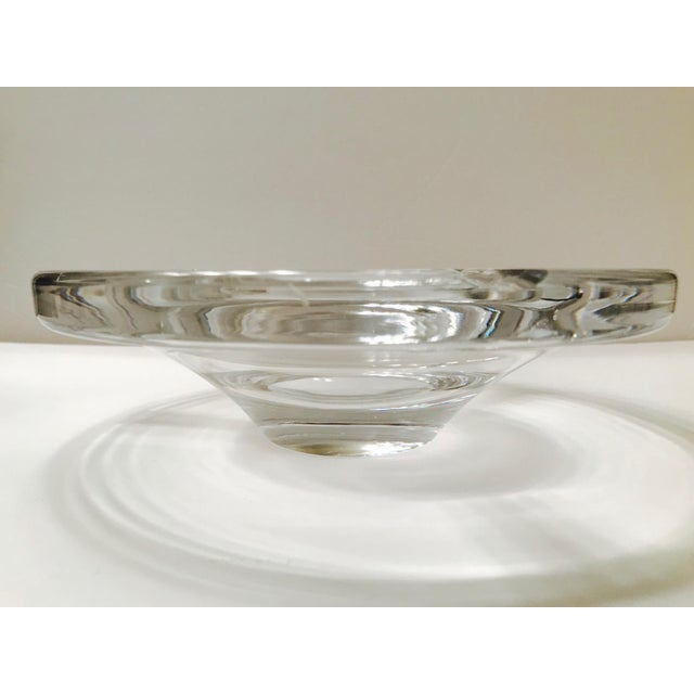 Swedish Mid-Century Modern Crystal Ashtray by Lindstrand for Kosta Boda, 1960's For Sale - Image 9 of 13