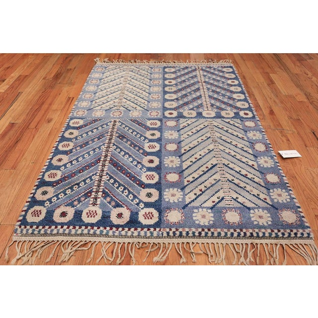 Breathtaking and extremely Artistic Vintage Scandinavian Marta Maas Marianne Richter Pile Rug, Country of Origin / Rug...