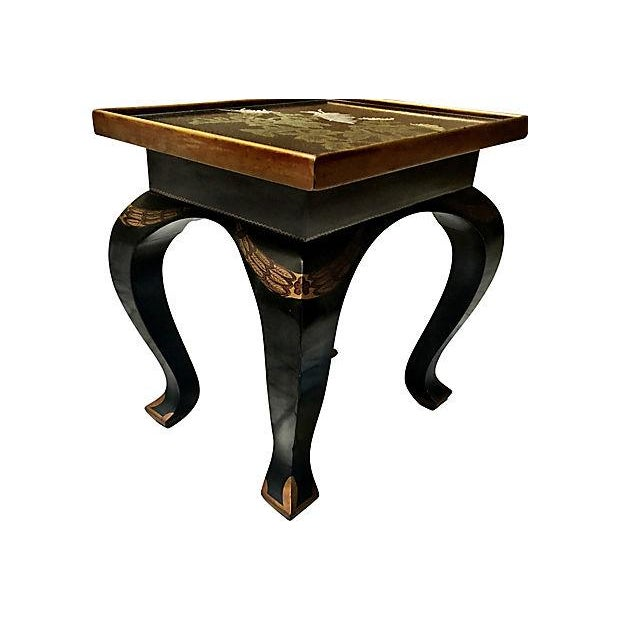 Lacquered Side Table - Image 4 of 8