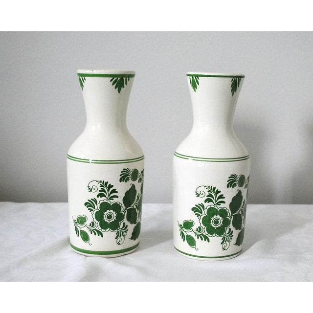1970s 1970s Shabby Chic Delft Green Carafes - a Pair For Sale - Image 5 of 9