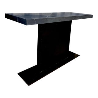 Modern Marble Top Console Table For Sale