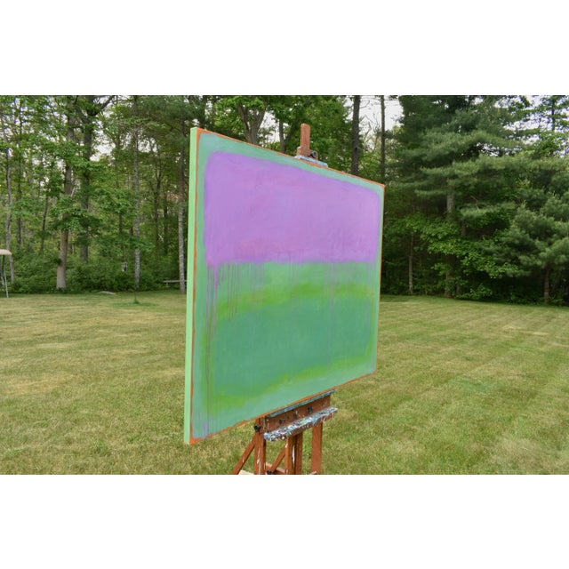 """Canvas Contemporary Abstract Painting """"Weeping Cherry"""" by Stephen Remick For Sale - Image 7 of 13"""