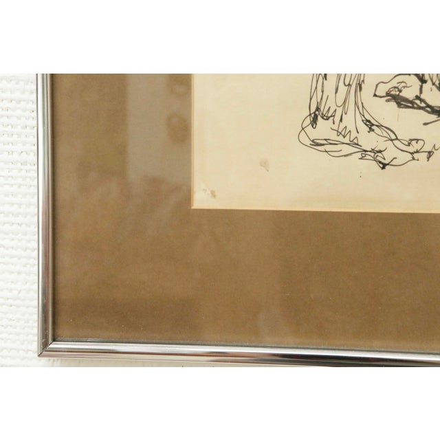 """""""Five Nudes"""" Line Drawing by Louis Field For Sale In New York - Image 6 of 8"""