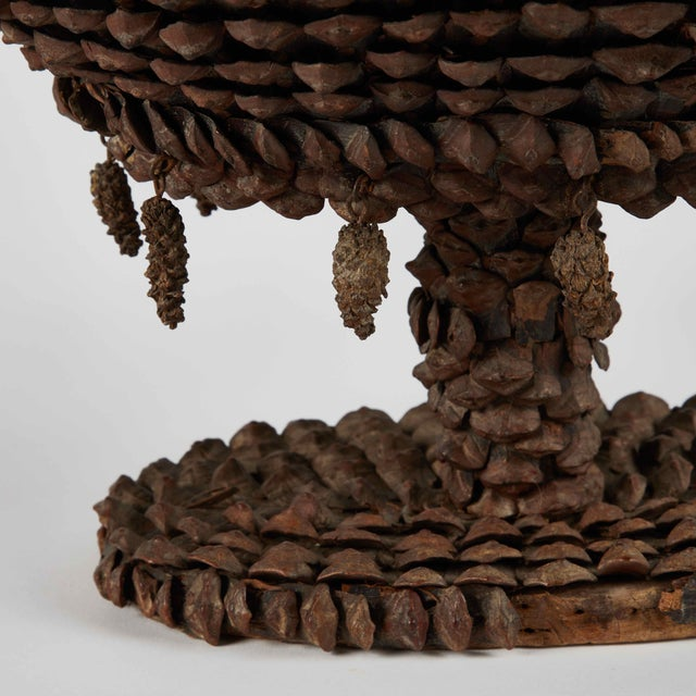 Contemporary Mid-19th Century French Tazza Pine Cones Decorated Wine Cooler For Sale - Image 3 of 5