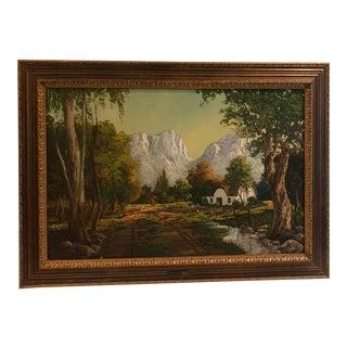 Cape Dutch Oil Painting, Signed by J L Foure (Jean-Louis (1931) Faure) For Sale