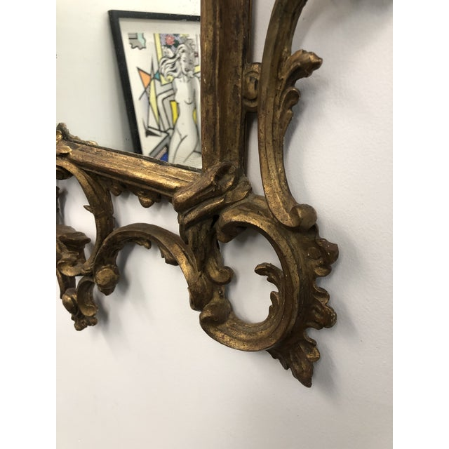 18th Century English Chippendale Chinoiserie Style Wall Mirror For Sale - Image 10 of 13