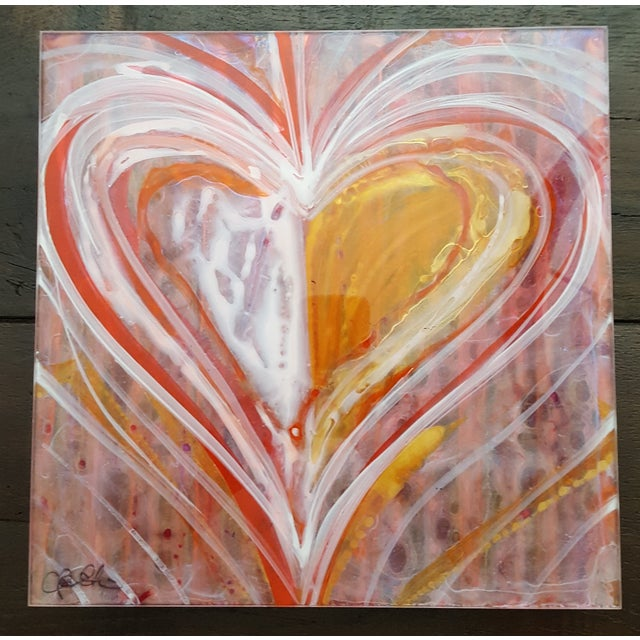 Christopher Martin Heart Paintings - Set of 4 - Image 6 of 10