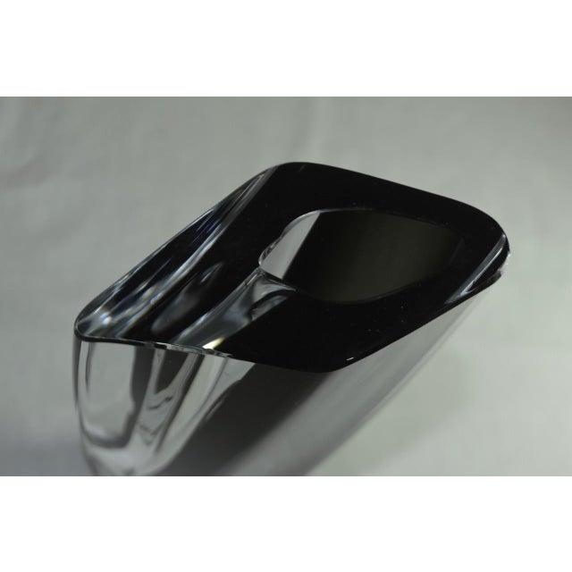 "Black 1980s Vintage Kosta Boda ""Saraband"" Swedish Art Glass Vase For Sale - Image 8 of 11"