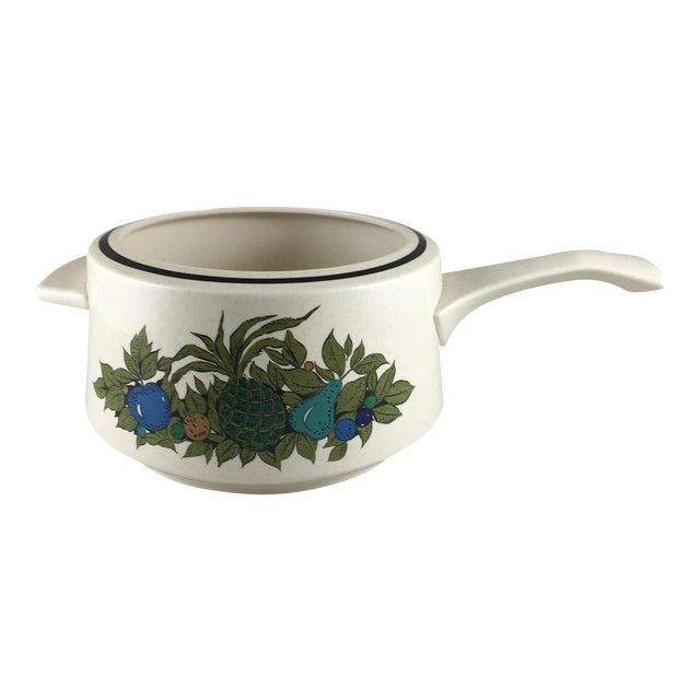 Fall Bounty Stoneware Open Fondue Pot For Sale