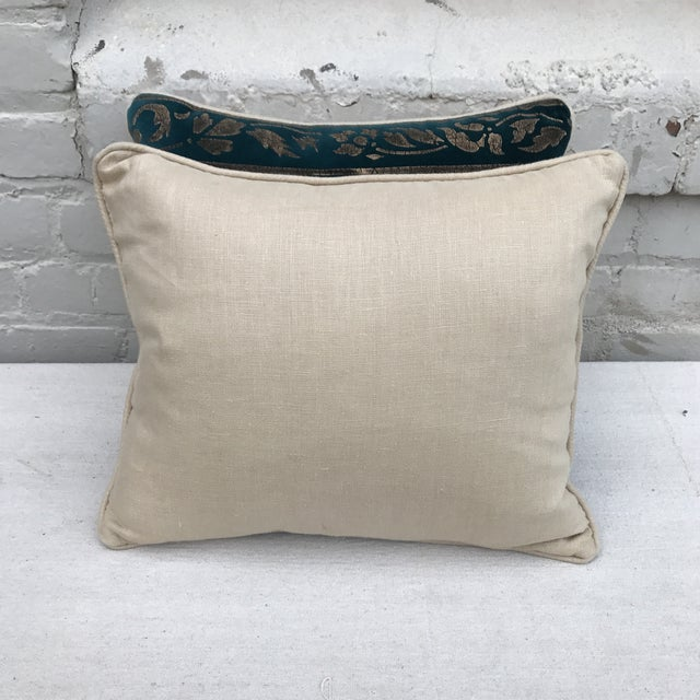 Gold Stenciled Velvet Pillows - A Pair - Image 7 of 7