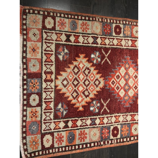 "Bellwether Rugs Vintage Turkish Oushak Runner - 2'9"" X 11'4"" - Image 3 of 11"