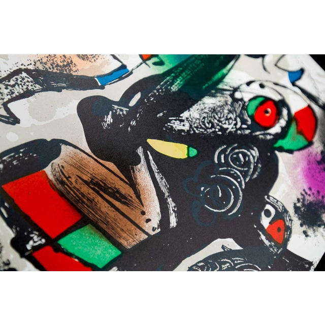 Abstract 1981 Joan Miro Original Color Lithograph For Sale - Image 3 of 4