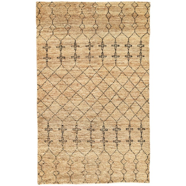Nikki Chu by Jaipur Living Lapins Natural Trellis Tan & Black Area Rug - 8' X 10' For Sale In Atlanta - Image 6 of 6