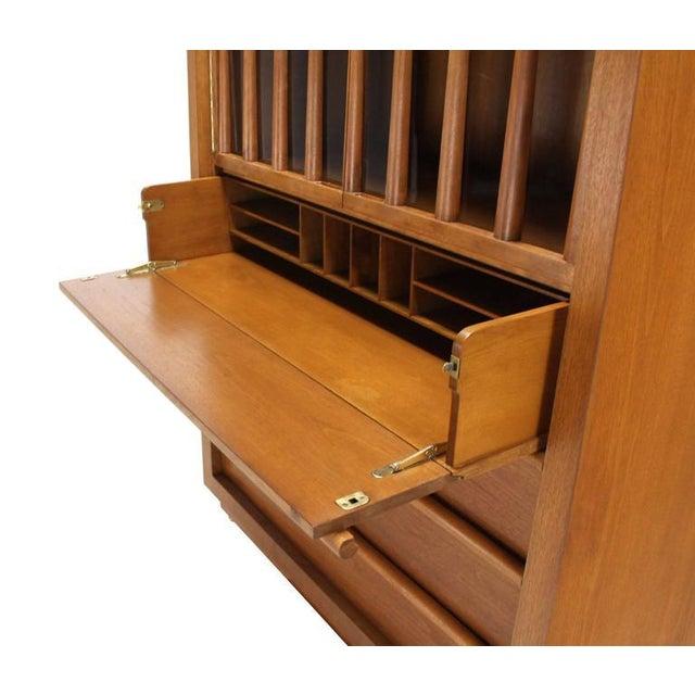 Wood Large Robsjohn-Gibbings Dresser Secretary w Bookcase For Sale - Image 7 of 9