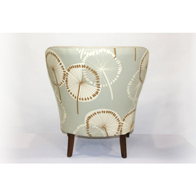 Antique Slipper Chair in Dandelion Upholstery - Image 4 of 4