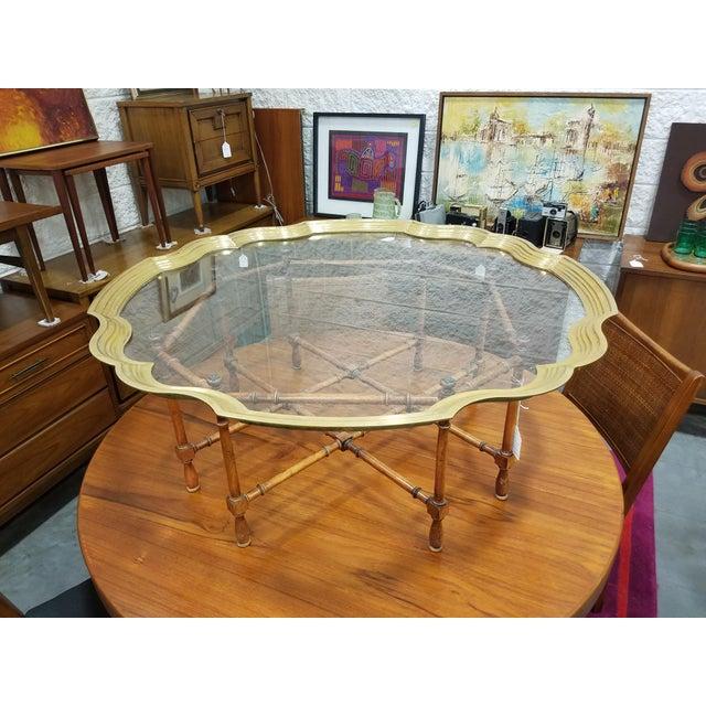 Baker Furniture Pie Crust Coffee Table - Image 4 of 6