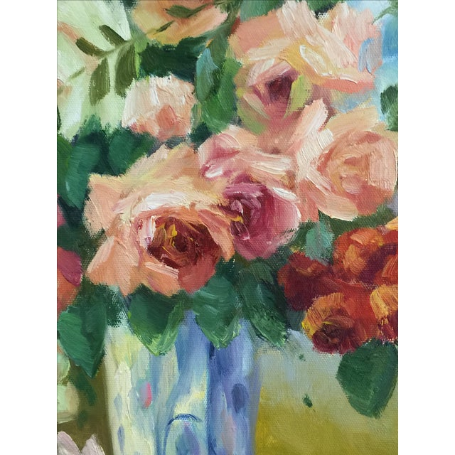 Oil on Canvas Floral Still Life Painting - Image 3 of 4