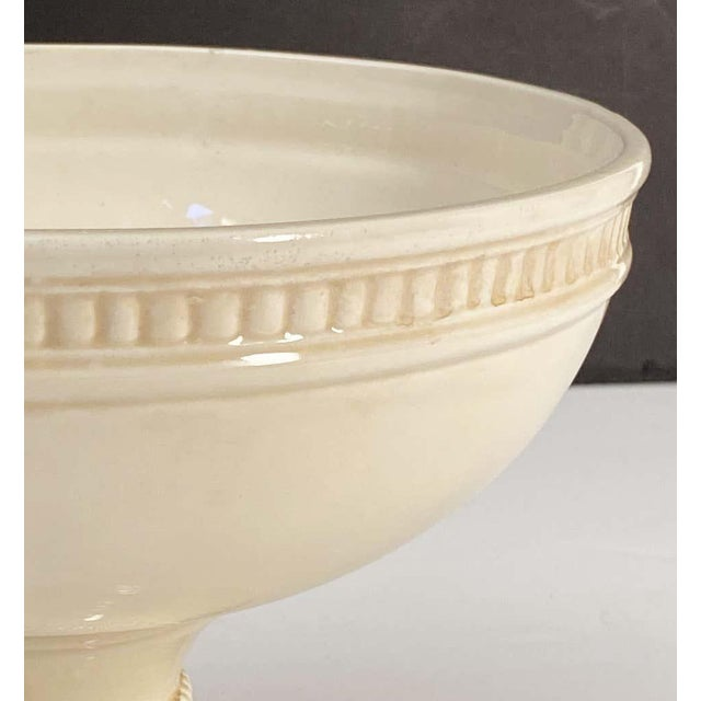 Italian Creamware Tureen or Bowl on Pedestal With Mixed Fruit Topiary Top For Sale In Austin - Image 6 of 13