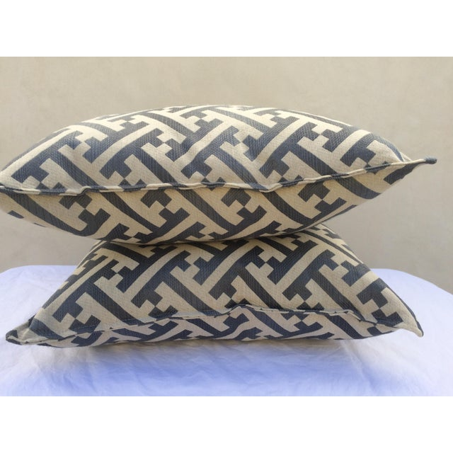 Modern Contemporary Graphic Pattern Pillows - a Pair - Image 4 of 7