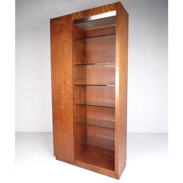 Mid-Century Modern Pair of Scandinavian Modern Teak Display Cabinets For Sale - Image 3 of 10